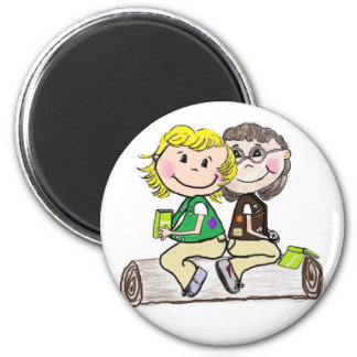 Girl Scout Junior Brownie Outdoors Magnet