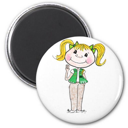 Girl Scout Junior Keeping the Promise 2 Inch Round Magnet