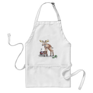 Girl Scout Moose Adult Apron