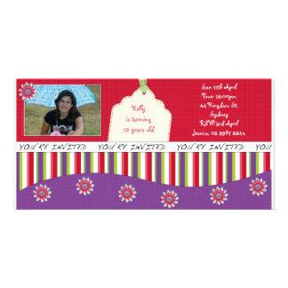 Girl Scrapbook Birthday Invite