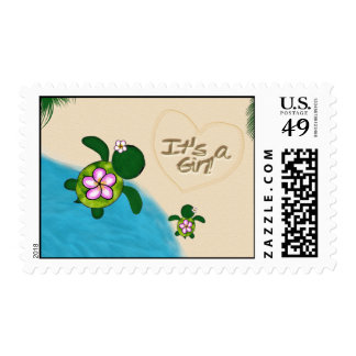 GIRL Sea TURTLE Baby (Honu) PINK Postage 01A