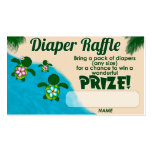 Girl Sea Turtle Honu Family Diaper Raffle Tickets Business Card