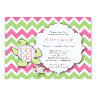 Girl Sea Turtles Baby Shower Invites Mother Baby