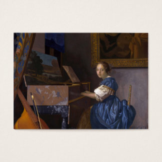 Girl Seated at the Piano Business Card