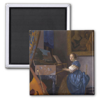 Girl Seated at the Piano Magnet