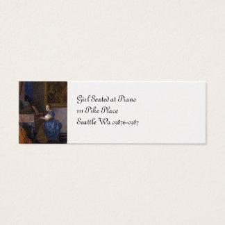 Girl Seated at the Piano Mini Business Card