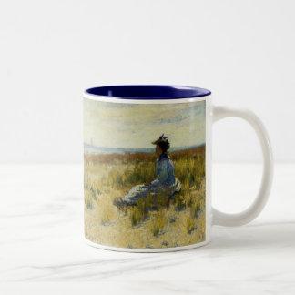 Girl Seated by the Sea Coffee Mug