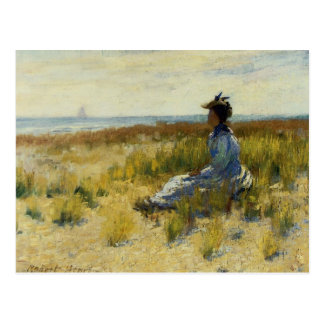 Girl Seated by the Sea Postcard