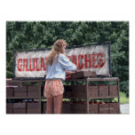 Girl Selling Peaches Posters