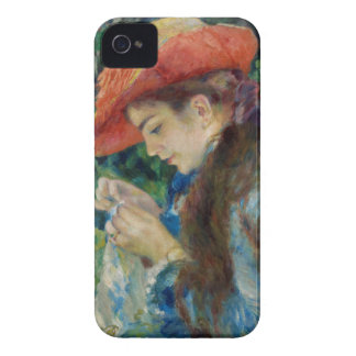 Girl Sewing in the Garden iPhone 4 Cover