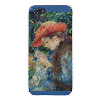 Girl Sewing in the Garden iPhone SE/5/5s Case