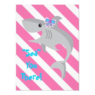 Girl Shark Bite Invite- 3rd Birthday Party