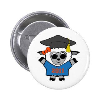 Girl Sheep Blue & Orange 2011 Grad Pin