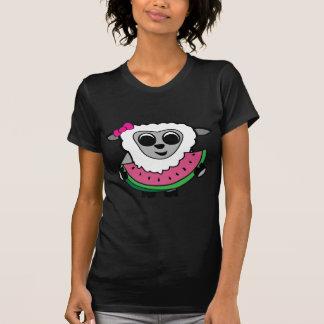 Girl Sheep Eating Watermelon Shirt