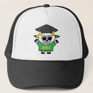 Girl Sheep Green & Gold 2011 Grad Trucker Hat