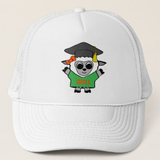 Girl Sheep Green & Orange 2011 Grad Trucker Hat