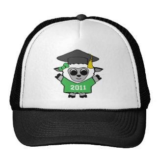 Girl Sheep Green & White 2011 Grad Trucker Hat