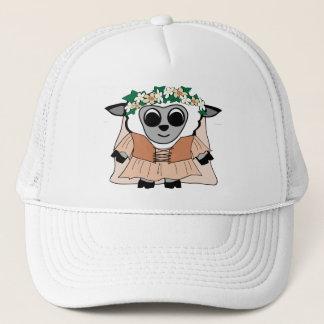 Girl Sheep in Renaissance Dress Trucker Hat
