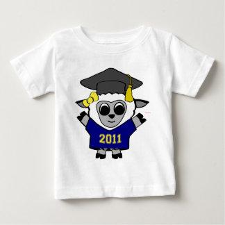 Girl Sheep Navy & Gold 2011 Grad Baby T-Shirt