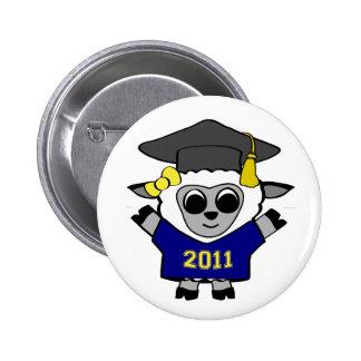 Girl Sheep Navy & Gold 2011 Grad Buttons