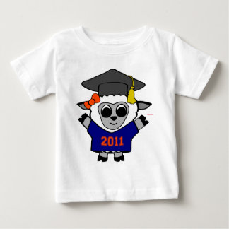 Girl Sheep Navy & Orange 2011 Grad Baby T-Shirt