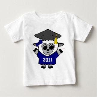 Girl Sheep Navy & White 2011 Grad Baby T-Shirt