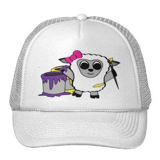 Girl Sheep Painting Fun Hats