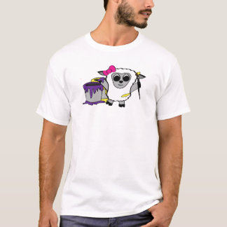 Girl Sheep Painting Fun T-Shirt