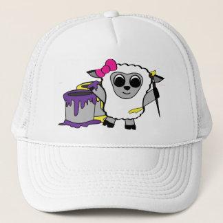 Girl Sheep Painting Fun Trucker Hat