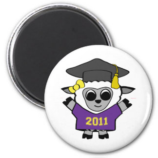 Girl Sheep Purple Gold 2011 Grad Magnets