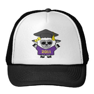Girl Sheep Purple & Gold 2011 Grad Trucker Hat