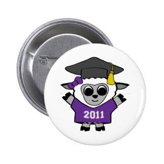 Girl Sheep Purple & White 2011 Grad Pin