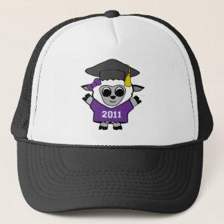 Girl Sheep Purple & White 2011 Grad Trucker Hat
