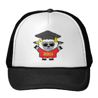 Girl Sheep Red & Gold 2011 Grad Trucker Hat