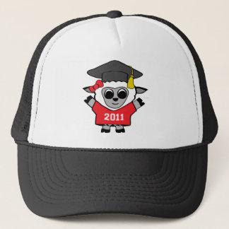 Girl Sheep Red & White 2011 Grad Trucker Hat
