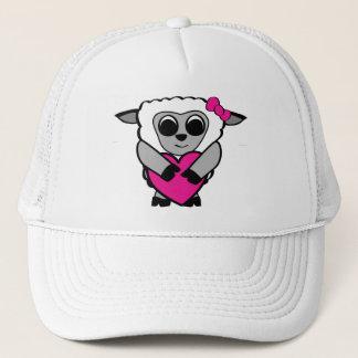 Girl Sheep with Big Heart Trucker Hat