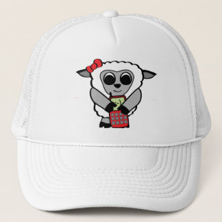 Girl Sheep with Cellphone Trucker Hat