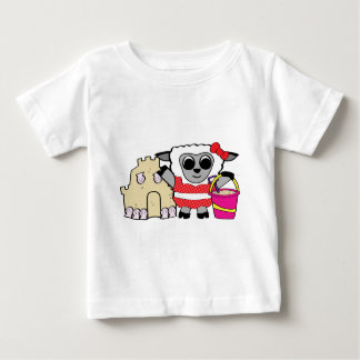 Girl Sheep with Sandcastle Baby T-Shirt