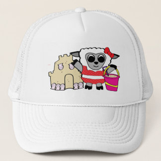 Girl Sheep with Sandcastle Trucker Hat