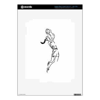 Girl Shooting Basketball iPad 3 Decal