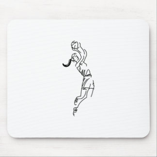 Girl Shooting Basketball Mouse Pad
