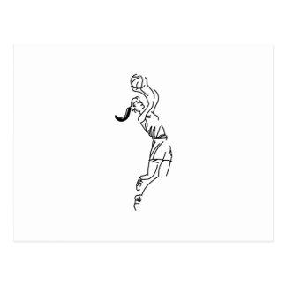 Girl Shooting Basketball Postcard