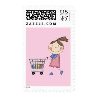 Girl Shopping T-shirts and Gifts Postage