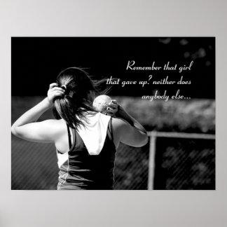 Girl Shotput thrower motivational poster
