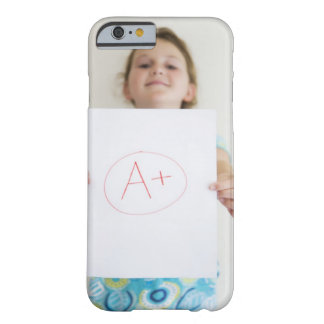 Girl showing off A+ grade on paper Barely There iPhone 6 Case