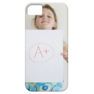 Girl showing off A+ grade on paper iPhone SE/5/5s Case