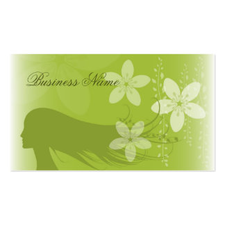 Girl Silhouette Business Card Template