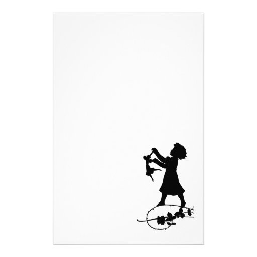 Girl Silhouette Stationery