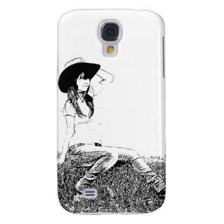 girl sitting on hay bale samsung galaxy s4 case