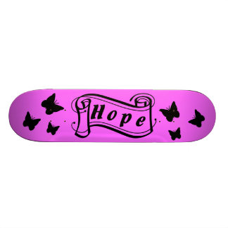 Girl skateboard in pink ones with butterfly